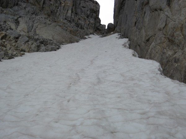 Leftmost couloir on North Peak - 9/8/10