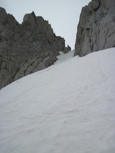 Looking up the rightmost couloir on North Peak - 9/8/10