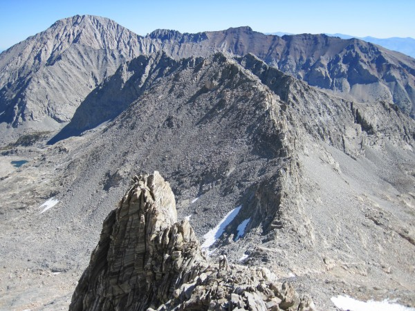 Looking down and across the NE Ridge on Bear Creek Spire - 9/10/10