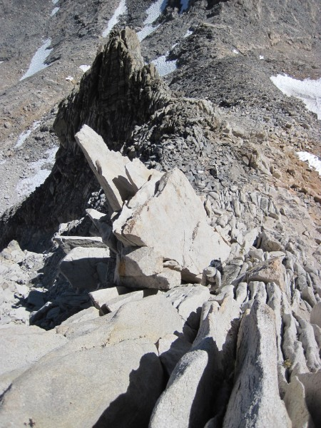 View down the NE Ridge on Bear Creek Spire - 9/10/10