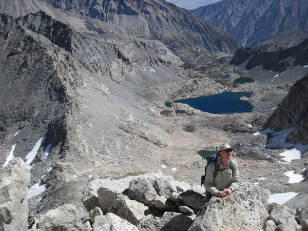 Spire Lake and Split Lakes from NE Ridge on Bear Creek Spire - 9/10/10