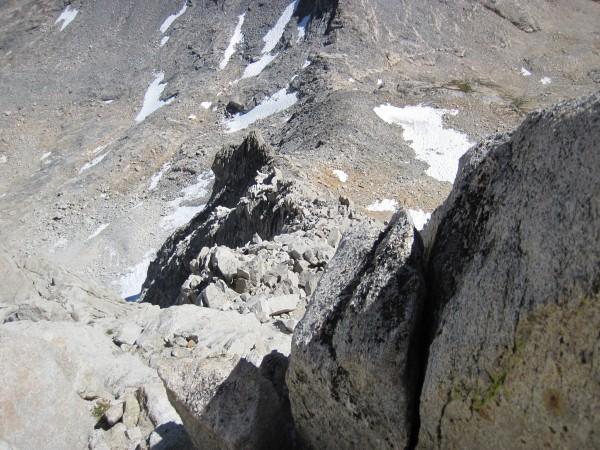 Looking down NE Ridge on Bear Creek Spire - 9/10/10