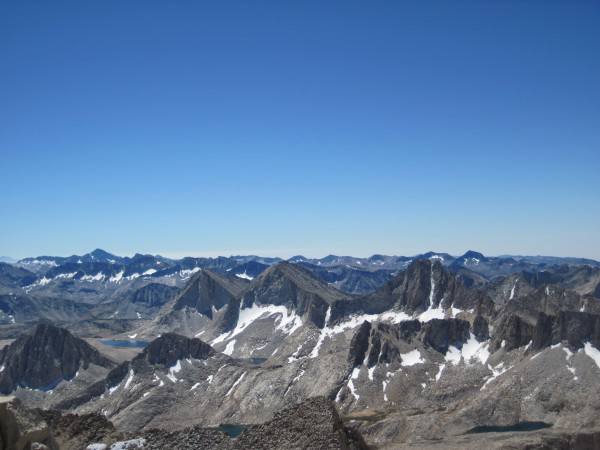 Merriam, Royce, and Feather Peaks in the distance - 9/10/10