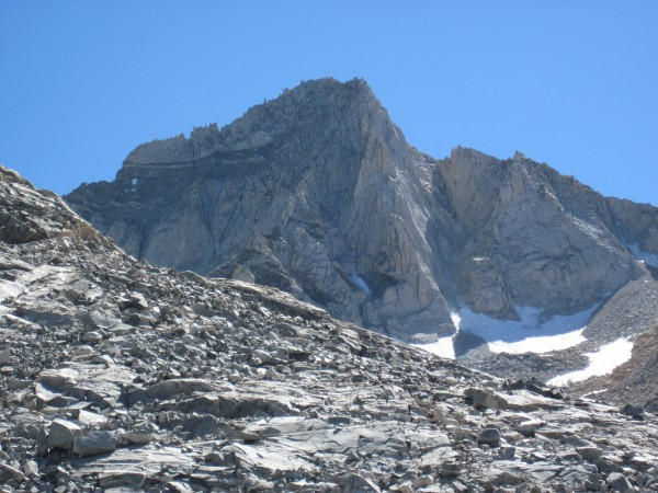 Looking back at Bear Creek Spire - 9/10/10