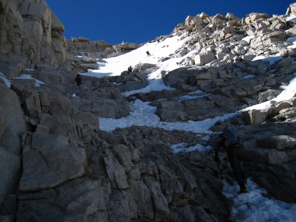 Fun mixed terrain on the upper part of the route.