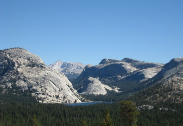 Tenaya Lake, Mt. Conness and some of the domes of Yosemite's high coun...