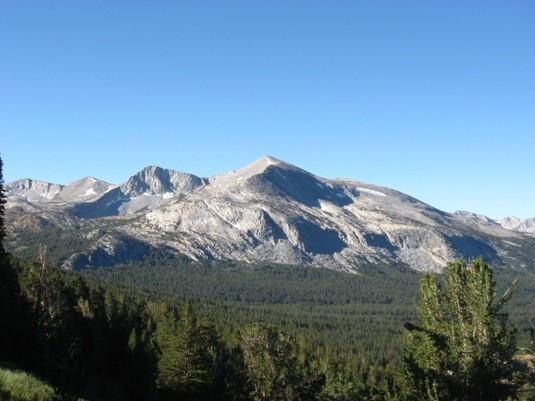 Almost to timberline, Mt. Dana.