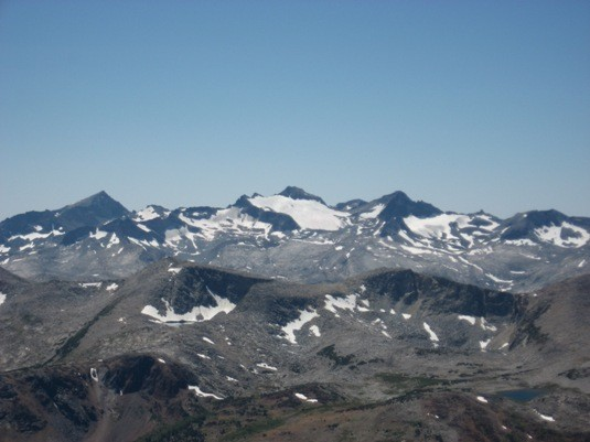 Mts. Lyell & McClure from Mt. Dana.