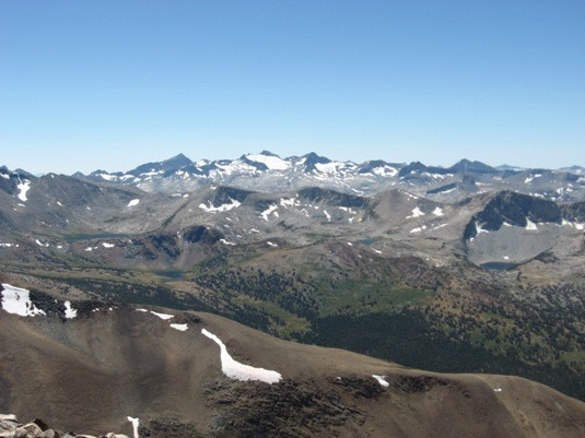 From the summit of Mt. Dana.