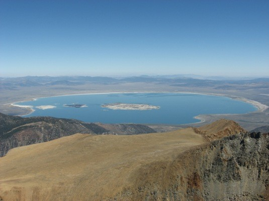 Mono Lake from Mt. Dana's summit.