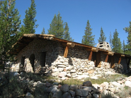 Old Sierra Club stone hut.