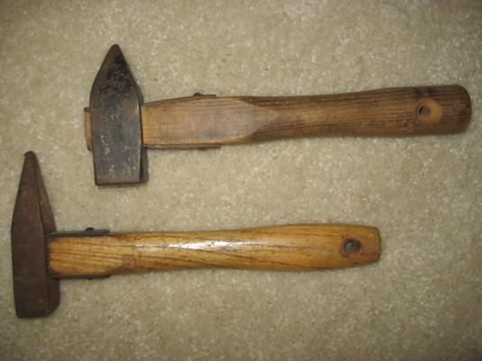 Salewa (above) and Stubai hammers.