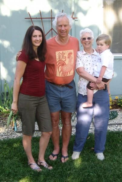 Robin Erbacher, BooDawg, Barbara Erbacher, Ian Conway Erbacher.