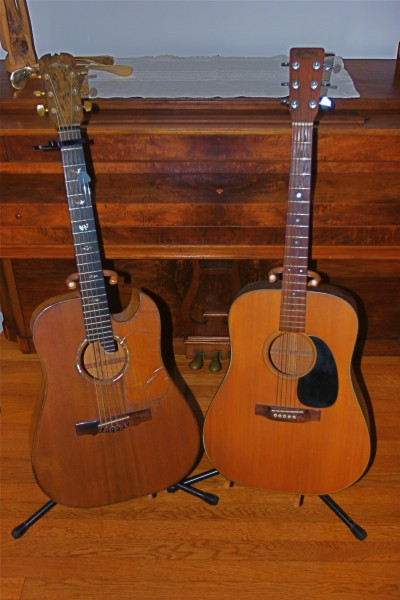 Custom, redwood top birdseye maple sides and back, and the '69 D18
