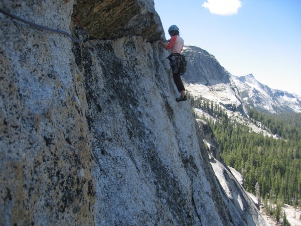 Using the Mammut Revelation on On the Lamb, Tuolumne Meadows, CA.