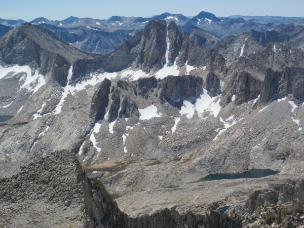 North Couloir on Feather Peak as seen from Bear Creek Spire - 9/10/10