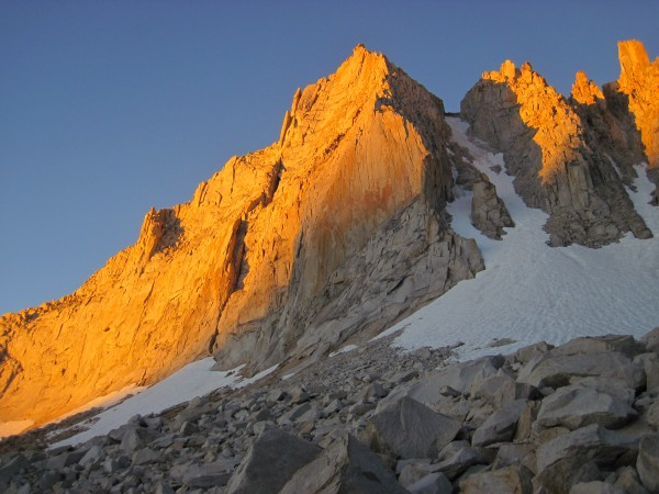 Sunrise lighting up Feather Peak - 9/12/10