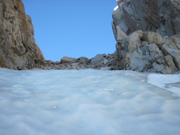 Top of ice in Feather Peak's N Couloir - 9/12/10