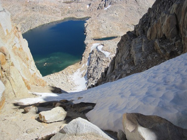 The descent gully at the col between Feather and Royce Peaks - 9/12/10