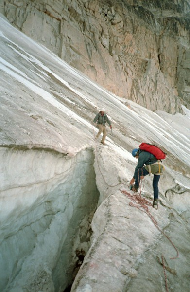 the highway to Snowpatch-Bugaboo col, 1985