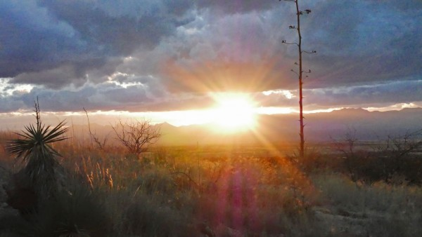 Sun sets on the Westside of Cochise Stronghold
