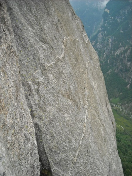 Mello Granite, slab climbing at its best.