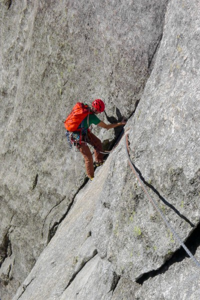 Pitch 4, Jakob closeto the belay