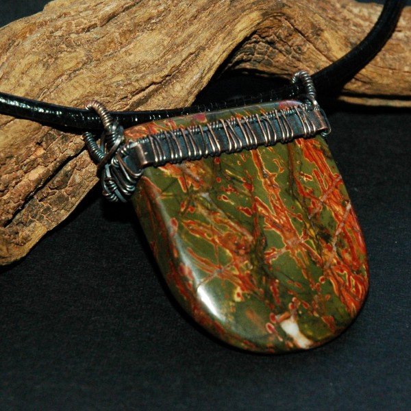 Jasper Wedge, an pretty cool shaped stone, purchased form a shop in MO...