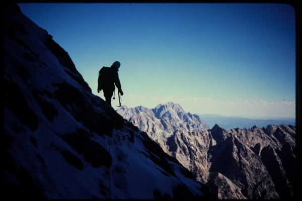 Jimmy Newberry on the Valhalla Traverse.