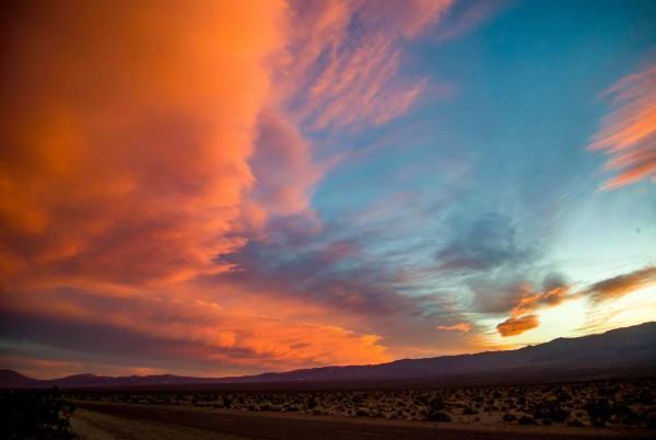 Sunset over Panamint Valley