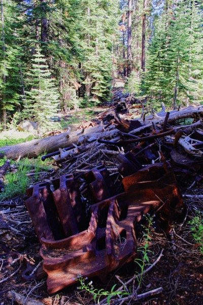 Glacier Point Hotel dump just East of old Glacier Point wagon road - E...