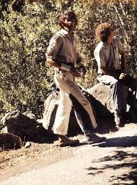 Jim Bridwell and Roger Breedlove at the base of the Cookie Cliff, Yose...