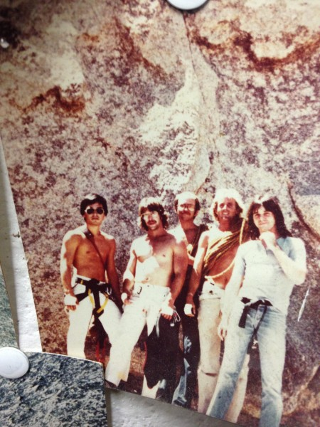 Original climbing partners, Circa 1977.  Me on left, Scott Angle, Chuc...