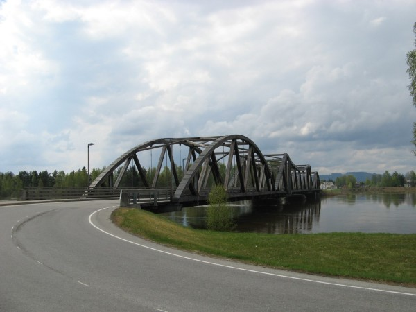 Flisa - wooden bridge across Glomma