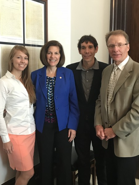 Senator Cortez Masto (D-NV) meeting with me, Honnold and the p...