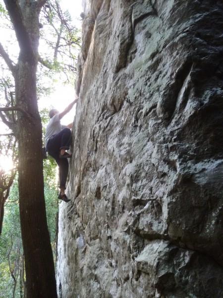 Me climbing some boulder