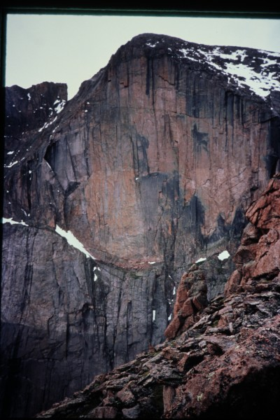 "The Window route goes up the sloping ledge that forms part of the ""K"" ..."