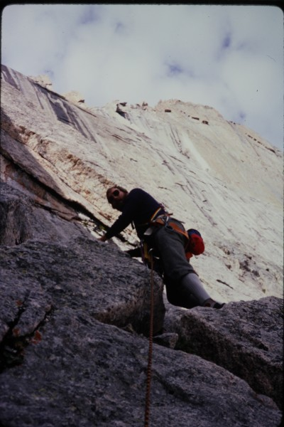John on one of the lower pitches of Stettners Ledges.