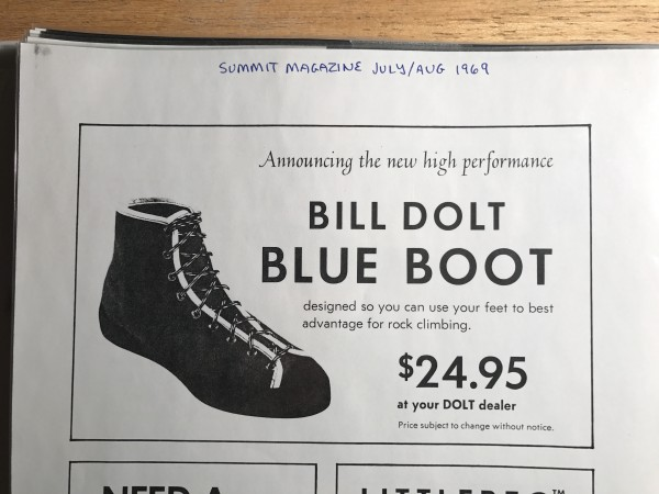 Dolt Blue Boot advertisement <br/>