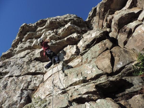 Gaby climbs a new 6a