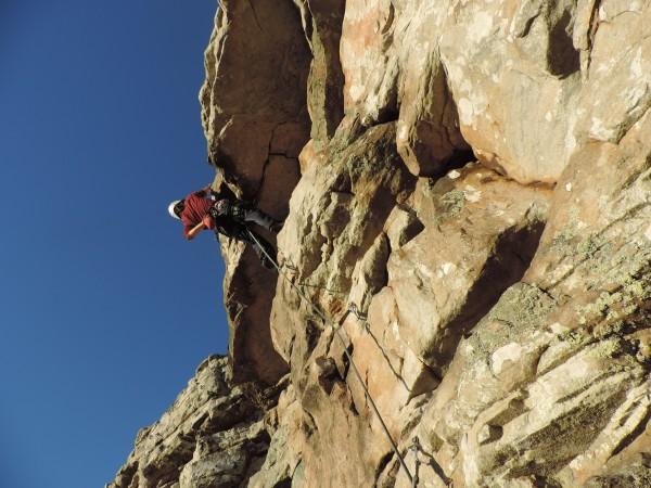 Gaby climbs a new 5+
