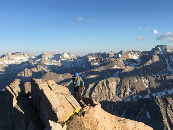 Summit ridge of Mount Emerson