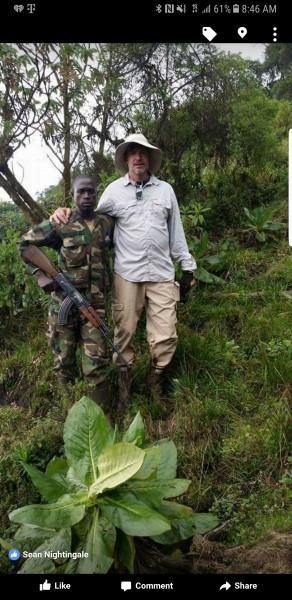 On the border of the DRC.   <br/> Virunga National Park 2016.