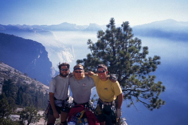 L-R: Joe Puryear, me, Nick Giguere celebrating on top.