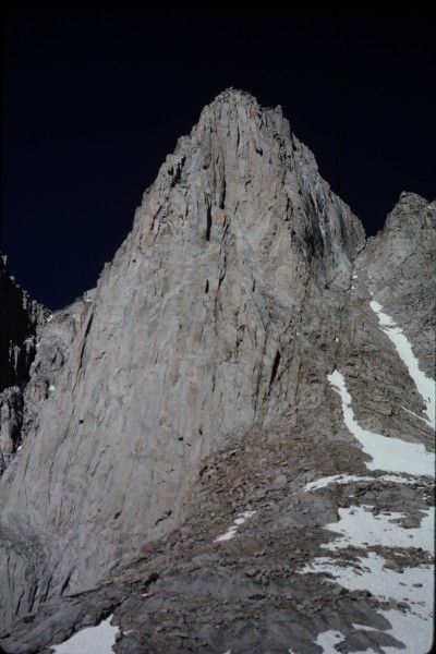 The east face of Mt. Whitney on the kind of cobalt blue sky day that J...