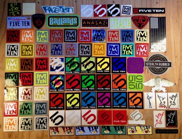 Five Ten stickers