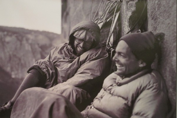 Royal Robbins and Tom Frost on the North America Wall FA.