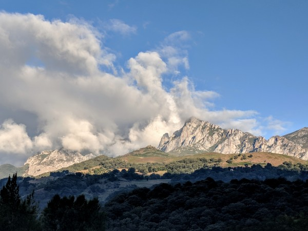 Clearing clouds on the way to Fuente De in the Picos de Europa