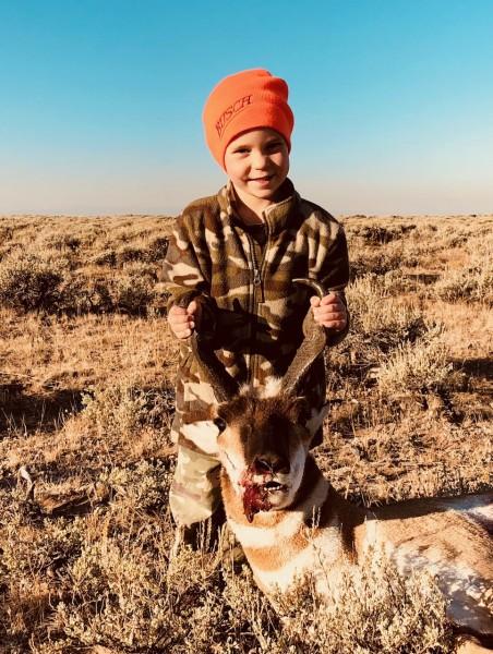 Nephew's first speed goat hunt!