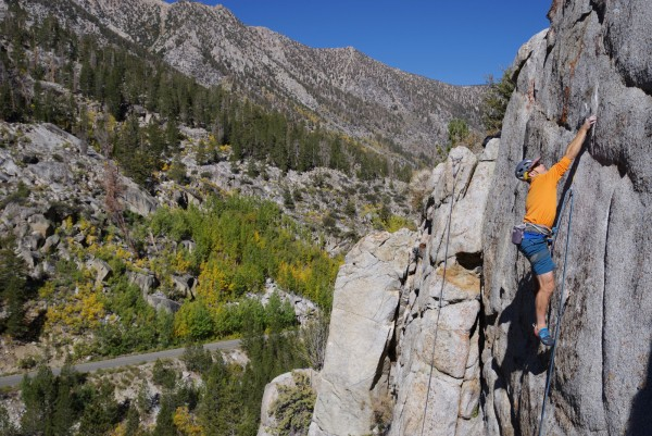 MisterT hitting the crux on the second ascent.